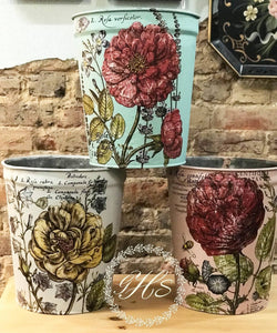 Decorative Floral Bucket