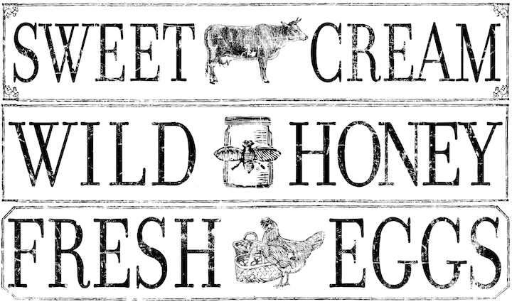 FARM FRESH SIGNAGE 14.25×24 DECOR TRANSFER™