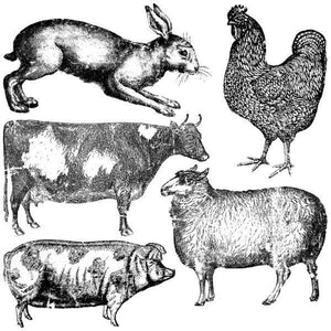 FARM ANIMALS 12X12 DECOR STAMP™