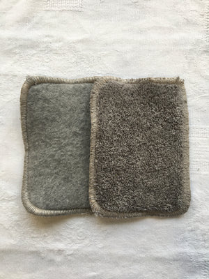Tendresse - Lot de 3 lingettes grises