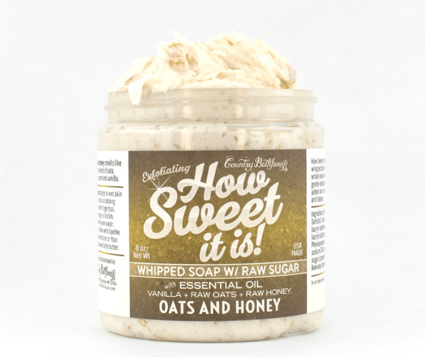 How Sweet It Is Whipped Soap with Raw Sugar - Oats and