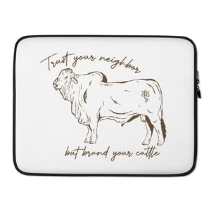 Brand Your Cattle Laptop Sleeve