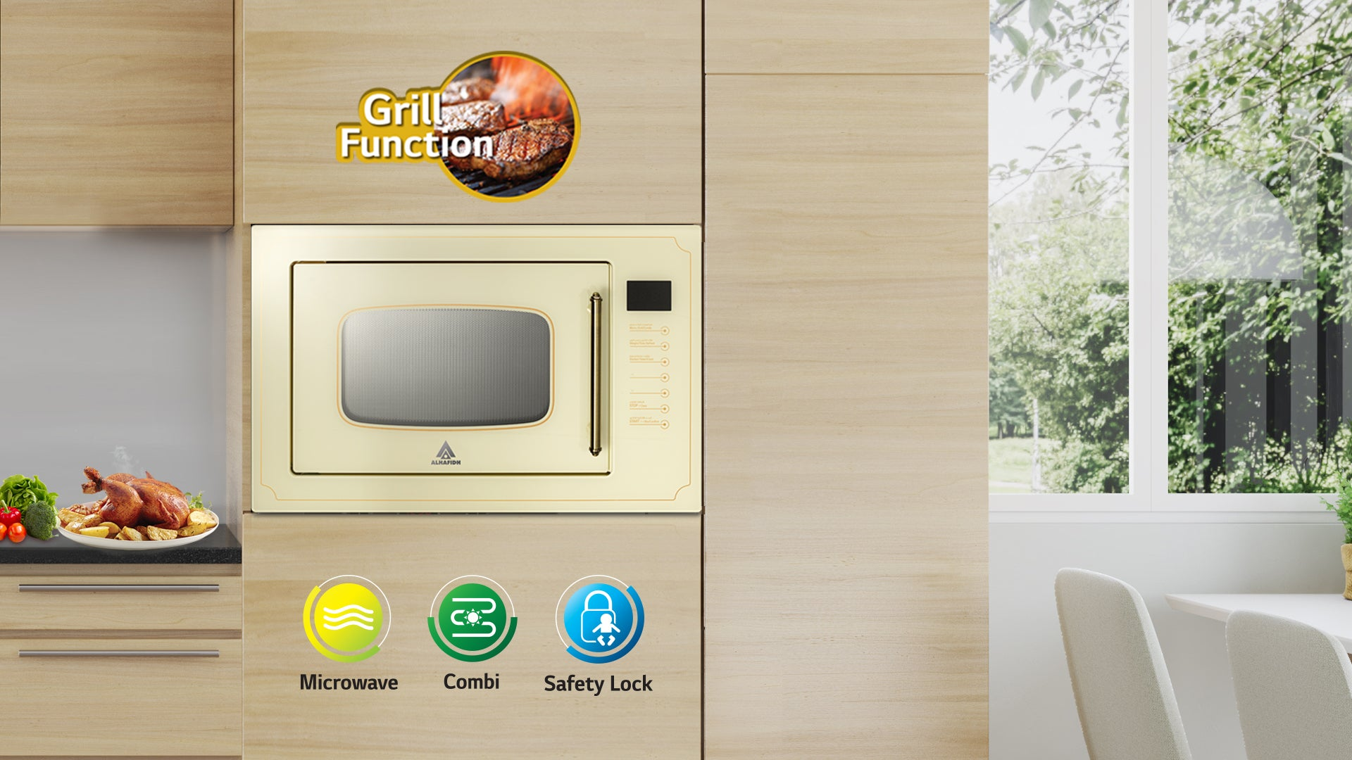 ALHAFIDH BMWHA-25GNT2 Built-in Microwave  Oven