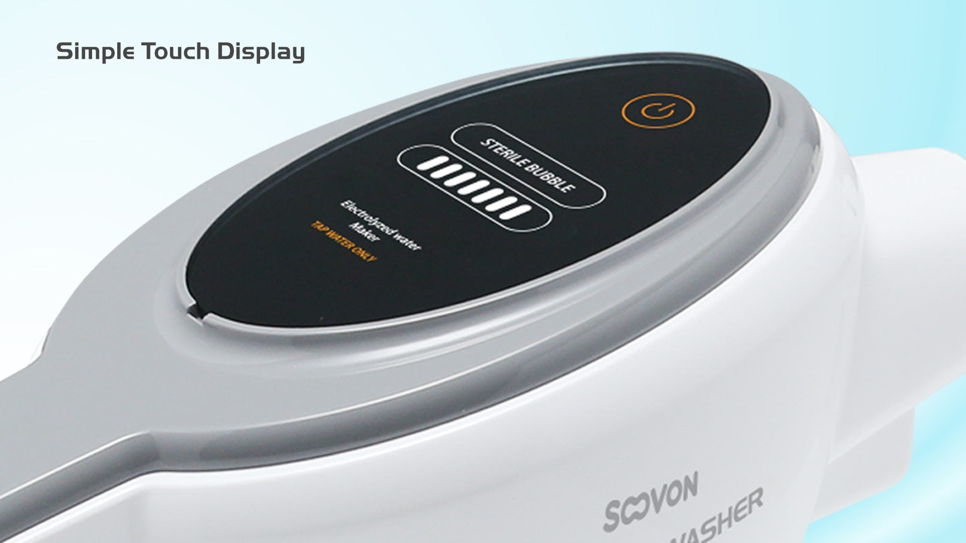 feature Soovon SV-1500 Hdro Air Washer Simple TOuch Display