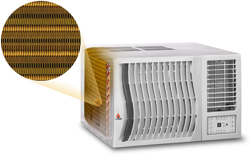 feature Golden Condenser ALHAFIDH Window AC WMHA-H24R410R9