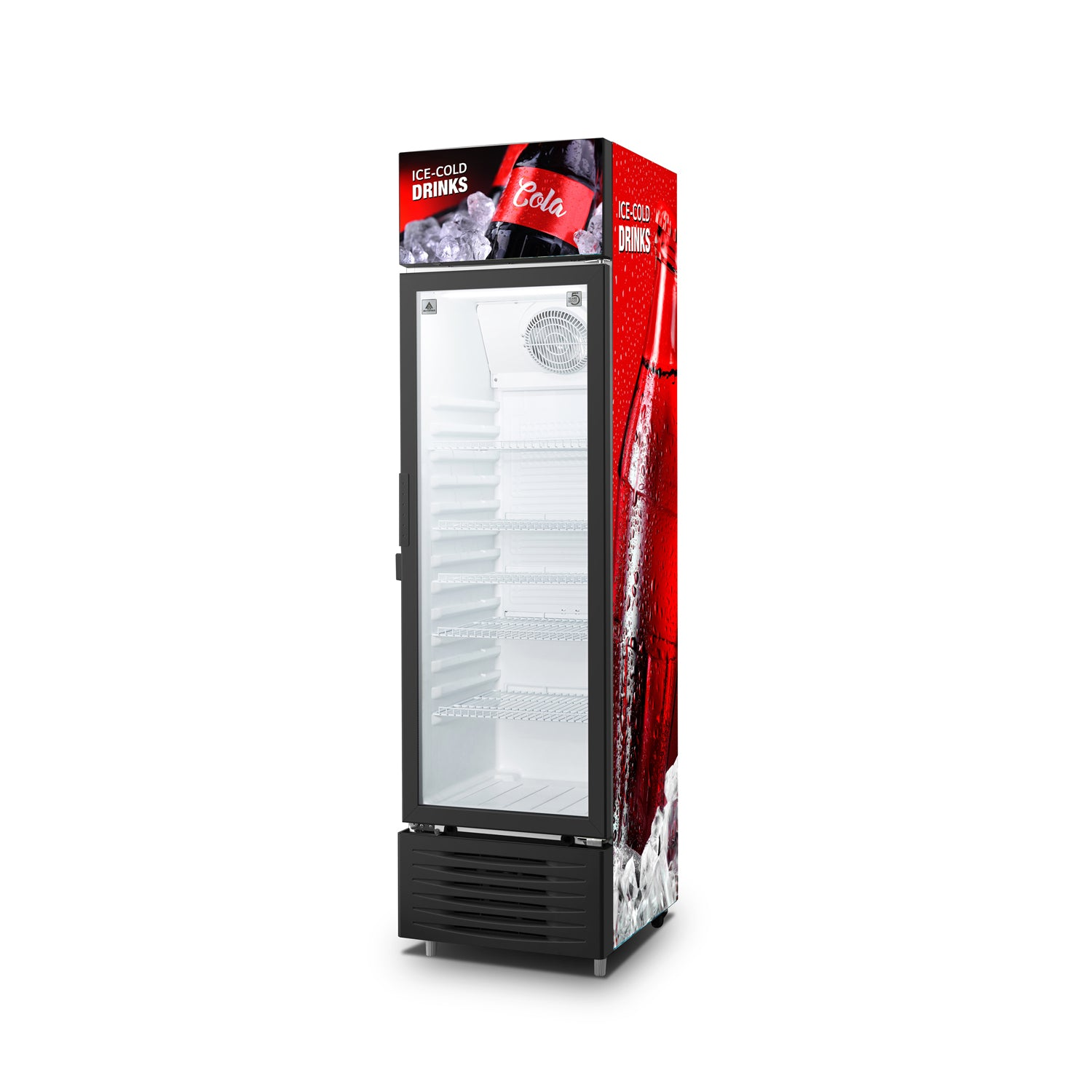 16CF Direct Cool Upright Showcase Refrigerator