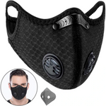 Respirator with 4 Carbon N99 Filters for Pollution Mask