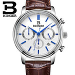 BINGER Men Run Three Seconds Quartz Casual Male watch