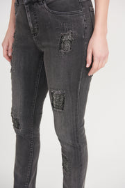 Joseph Ribkoff Sparkle Patch Jean