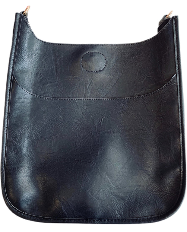 Adhorned Vegan Leather Classic Messenger Bag - Several Colors Available