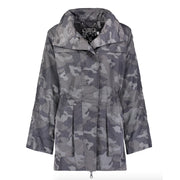 Anorak Black Camo Rain Coat