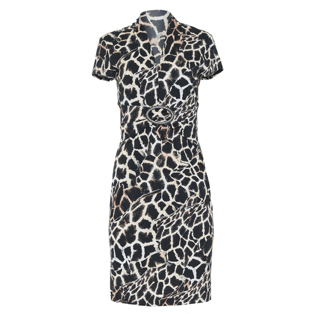 Joseph Ribkoff Cap Sleeve Animal Print Dress style #201368