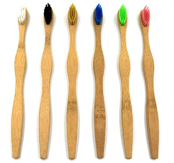 Adult Bamboo Toothbrush  Soft/Medium/Hard  Bristle | Eco-Friendly Bamboo Toothbrush - ninobamboo