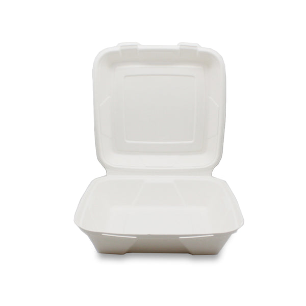 8x8inch Sugarcane Bagasse Disposable Lunch Box