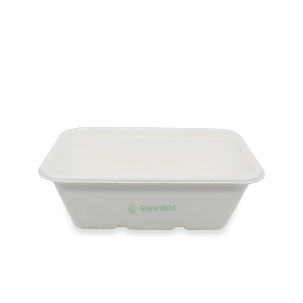 100% Biodegradable Sugarcane Bagasse 650ml Container