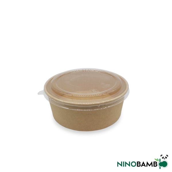 500ml Kraft Paper Bowl With Lid