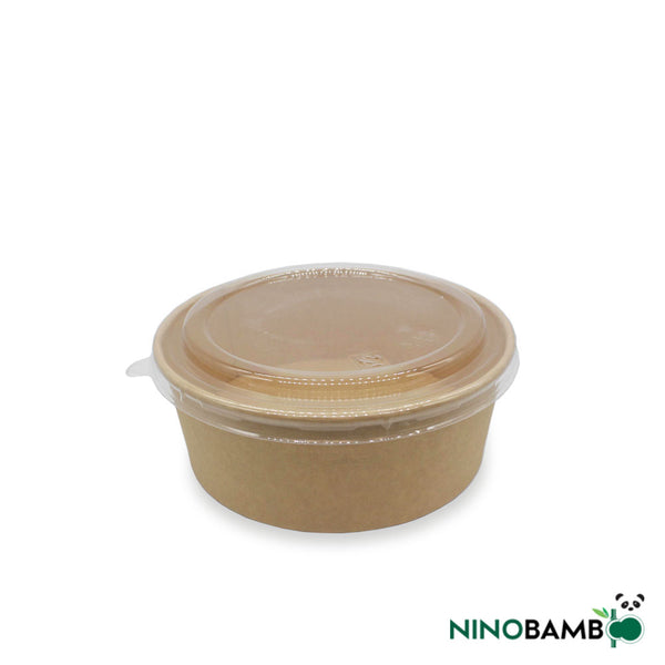 750ml Kraft Paper Bowl with Lid