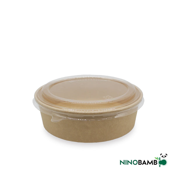 900ml Kraft Paper Bowl with Lid