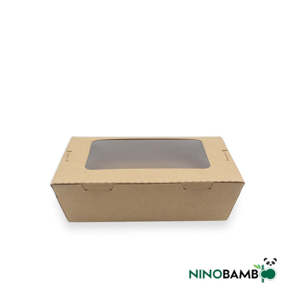 700ml Kraft Paper Disposable Salad Box With Window