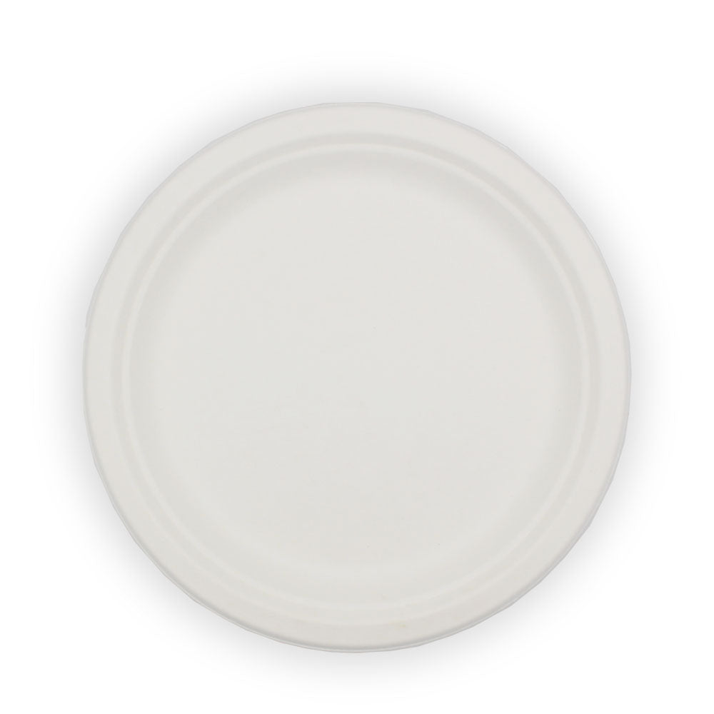 Biodegradable Sugarcane Bagasse Round Plate 9inch