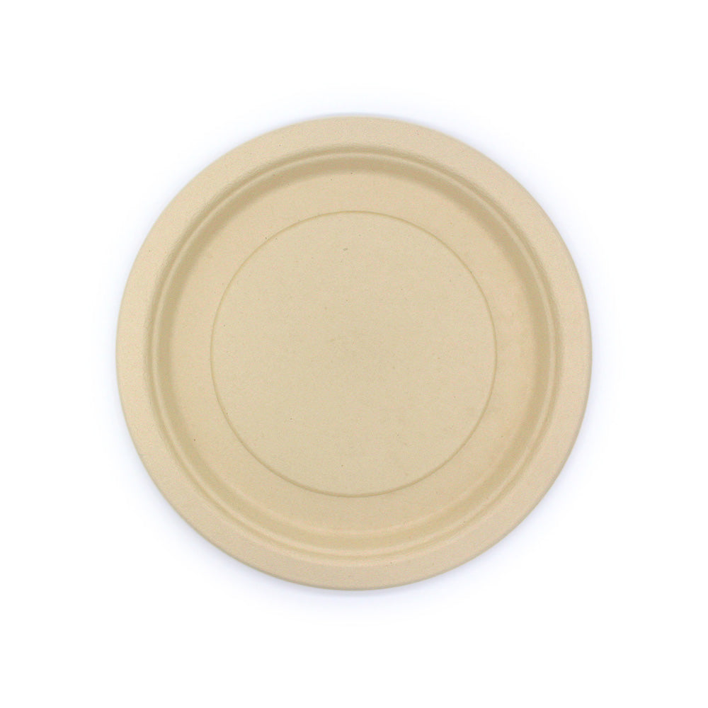 "9"" 100% Bamboo Fiber Disposable Plates 