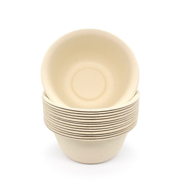 100% Biodegradable Eco-friendly Bamboo Fiber Bowl | Bagasse Bowl