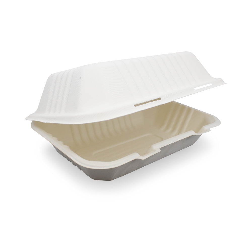 9x6inch Eco-friendly Sugarcane Bagasse Lunch Box