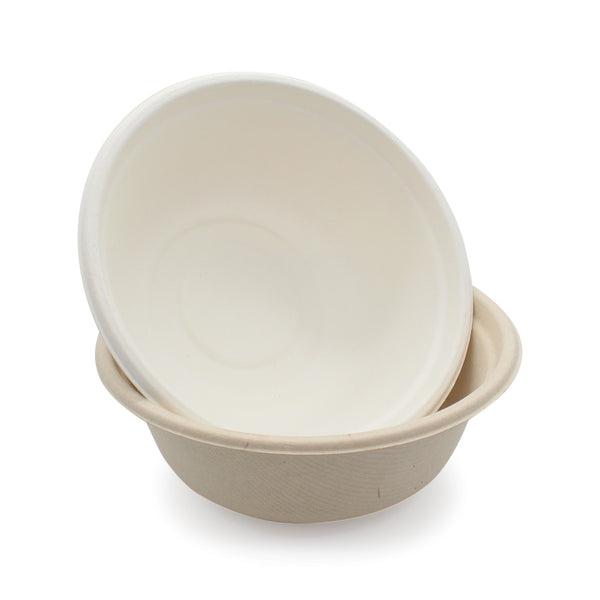 100% Biodegradable Sugarcane Bagasse 500ml Round Bowl