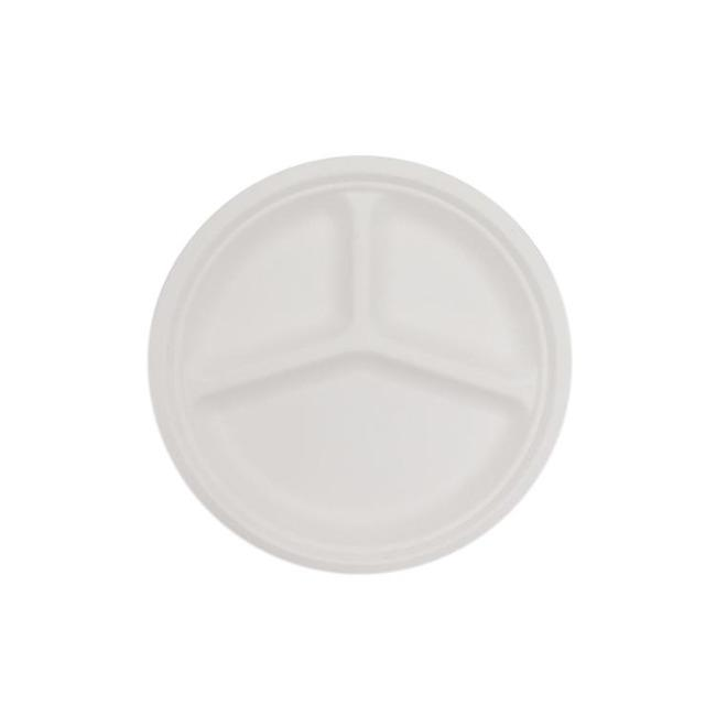 Biodegradable Sugarcane Bagasse Round Plate | Biodegradable Sugarcane Bagasse Plates - ninobamboo