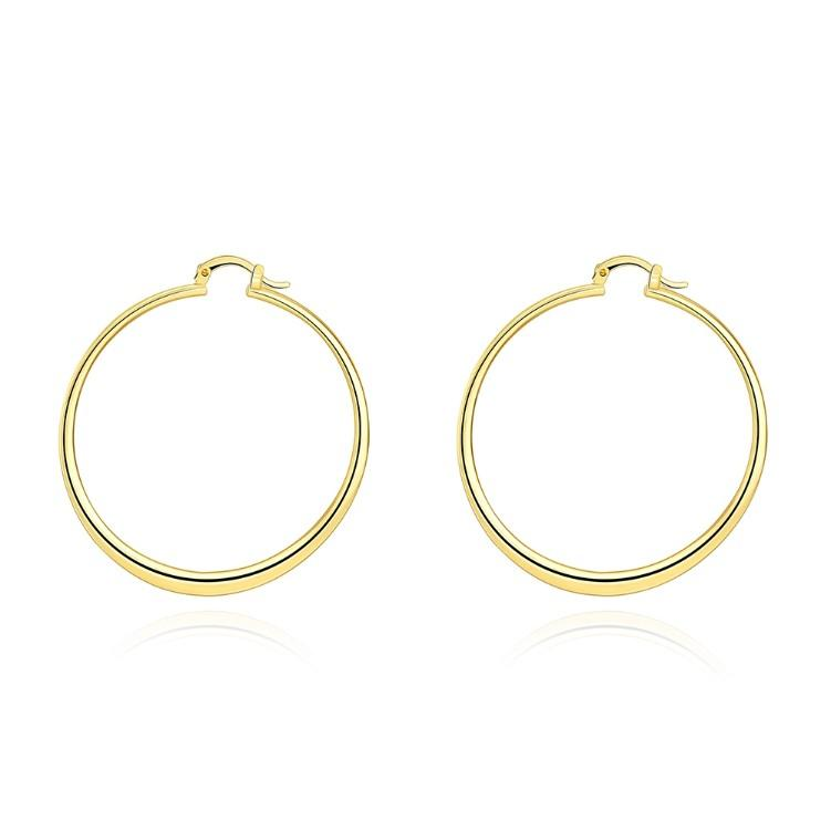 60mm 18K Gold Plated Hoop Earrings - Clayton White