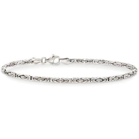 Byzantine Chain Bracelet in 18K White Gold Plated - Clayton White