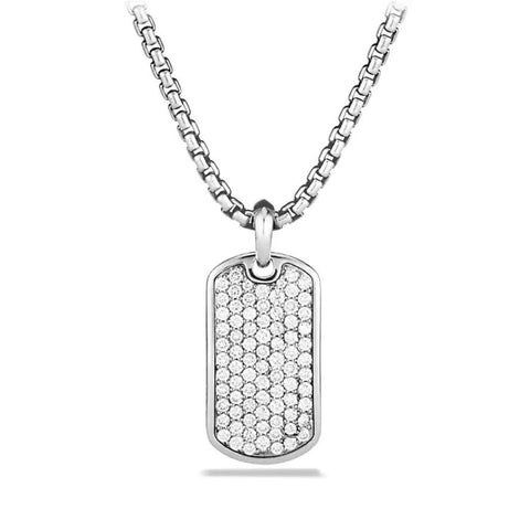Father's Day! Stainless Steel Micro-Pav'e Crystal Setting Necklace - Five Options - Clayton White