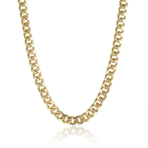 "Classic 18"" Link Chain in 18K Gold Plated - Clayton White"