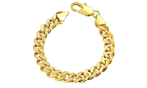 "Class Curb Bracelet in 7.5"" in 14K Gold Plated - Clayton White"