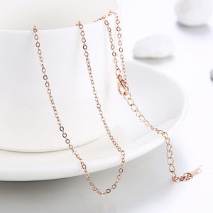 18K Rose Mini Chain Necklace - Clayton White