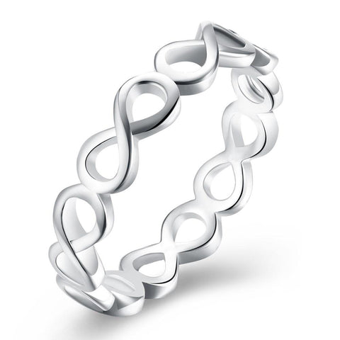 Infinity Loop Ring in Silver Plating - Clayton White