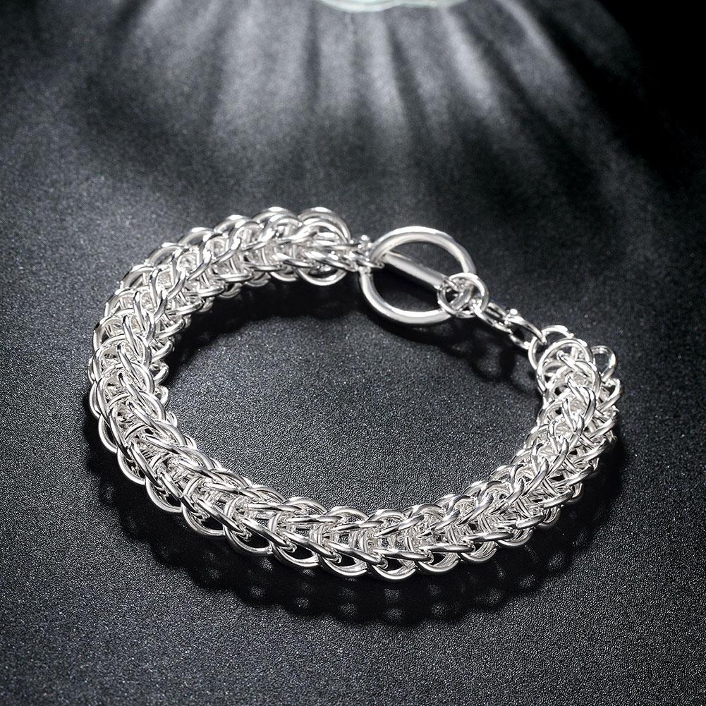 Silver Intertwined Mesh Knot Bracelet - Clayton White