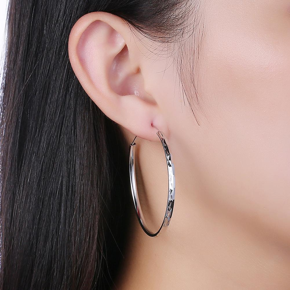 Sterling Silver Classic Hammered Hoops - Clayton White