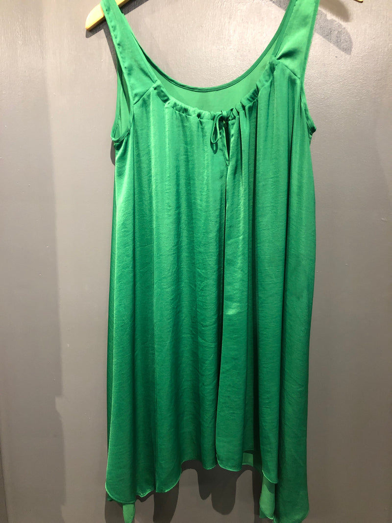 Green silky sleeveless dress sz small