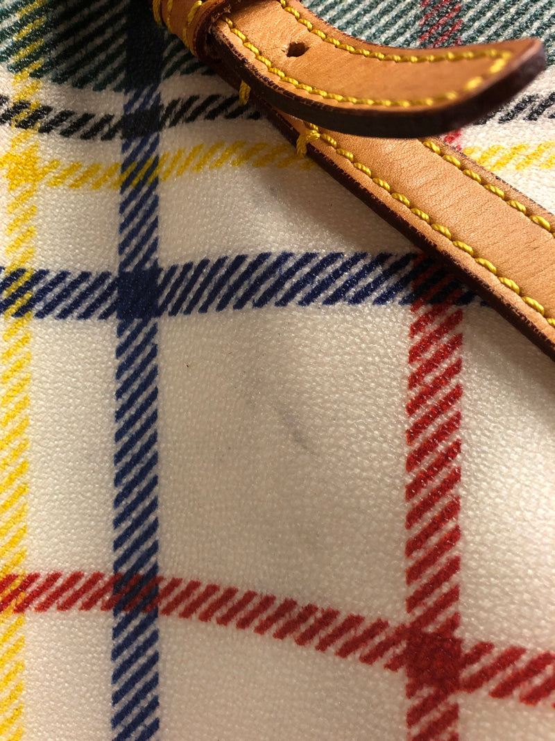 Dooney & Bourke coated large plaid bag