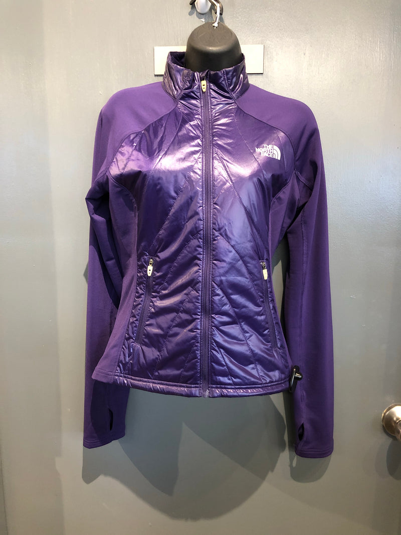The North Face purple packable hoodie sz XS