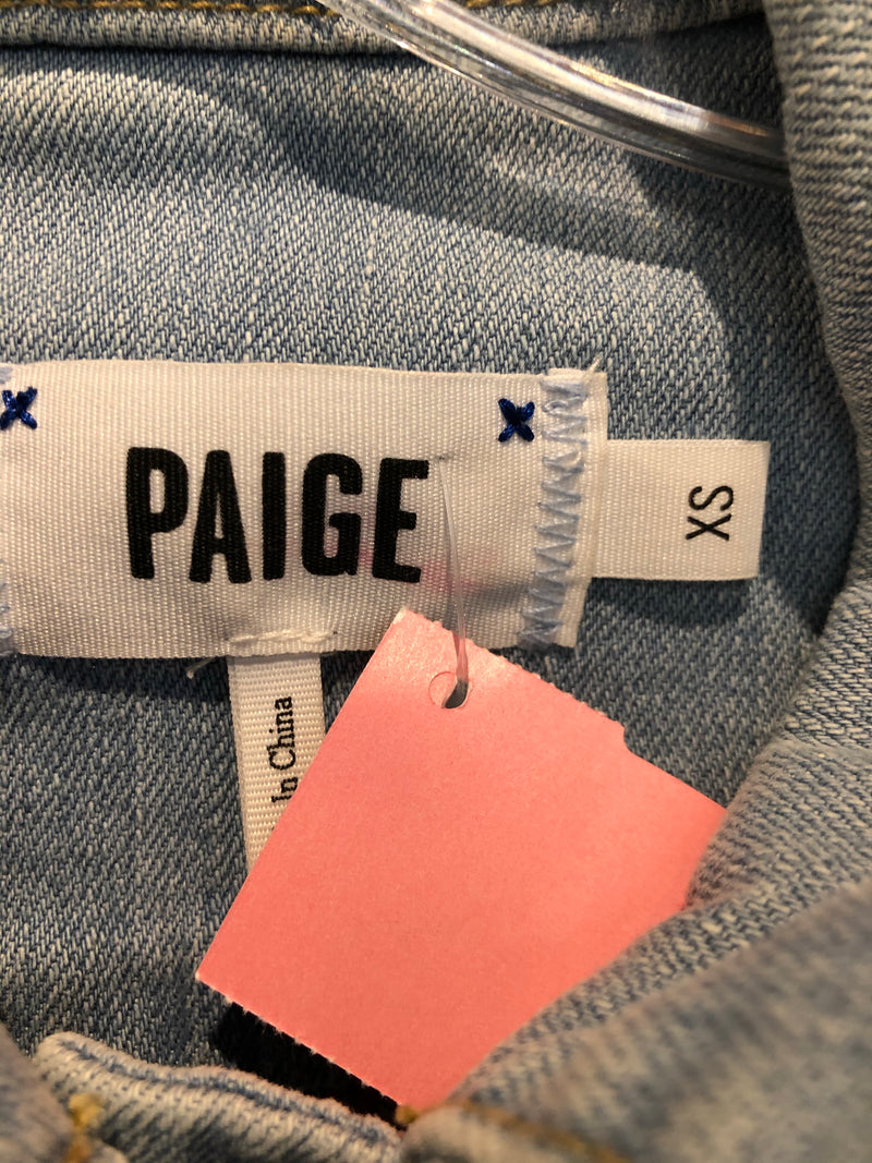 Paige denim jacket size XS