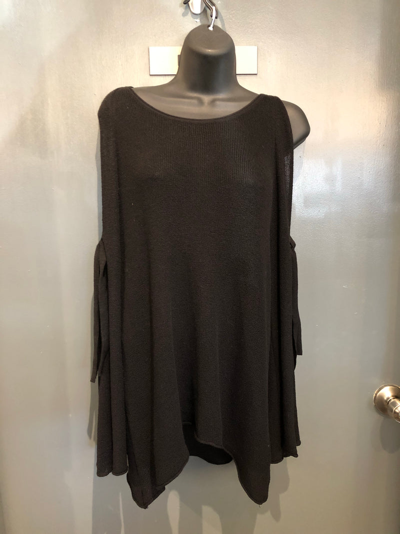 Zara Black cold shoulder sweater sz small