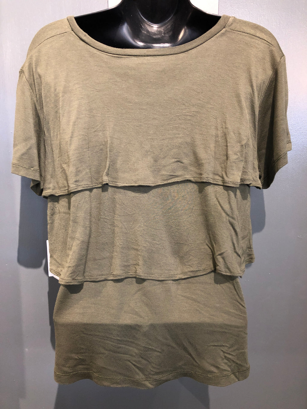 NWT Treasure & Bond olive top size small