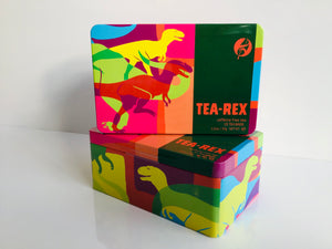 Tea-Rex tea tin