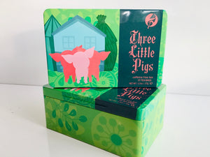 Three Little Pigs tea tin