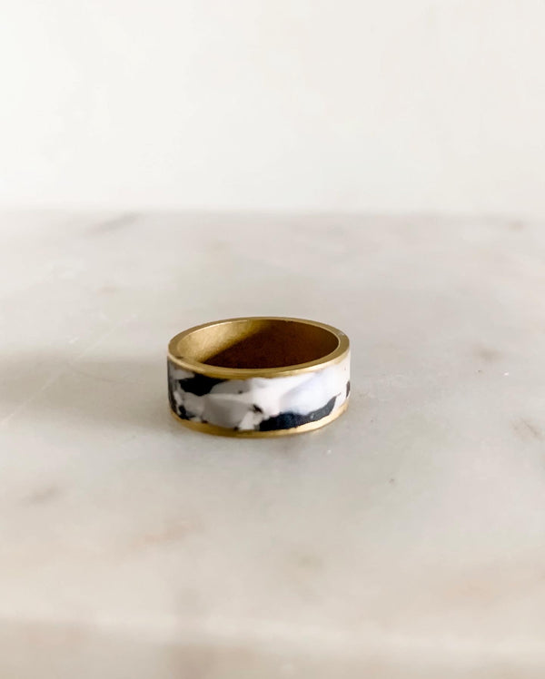 Brass Ring - Marble