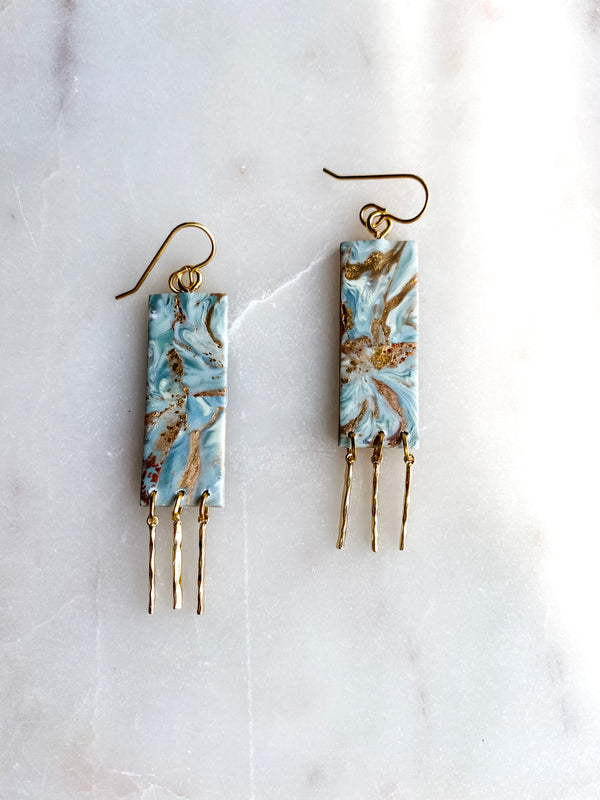 REESE - Teal & Gold Marble