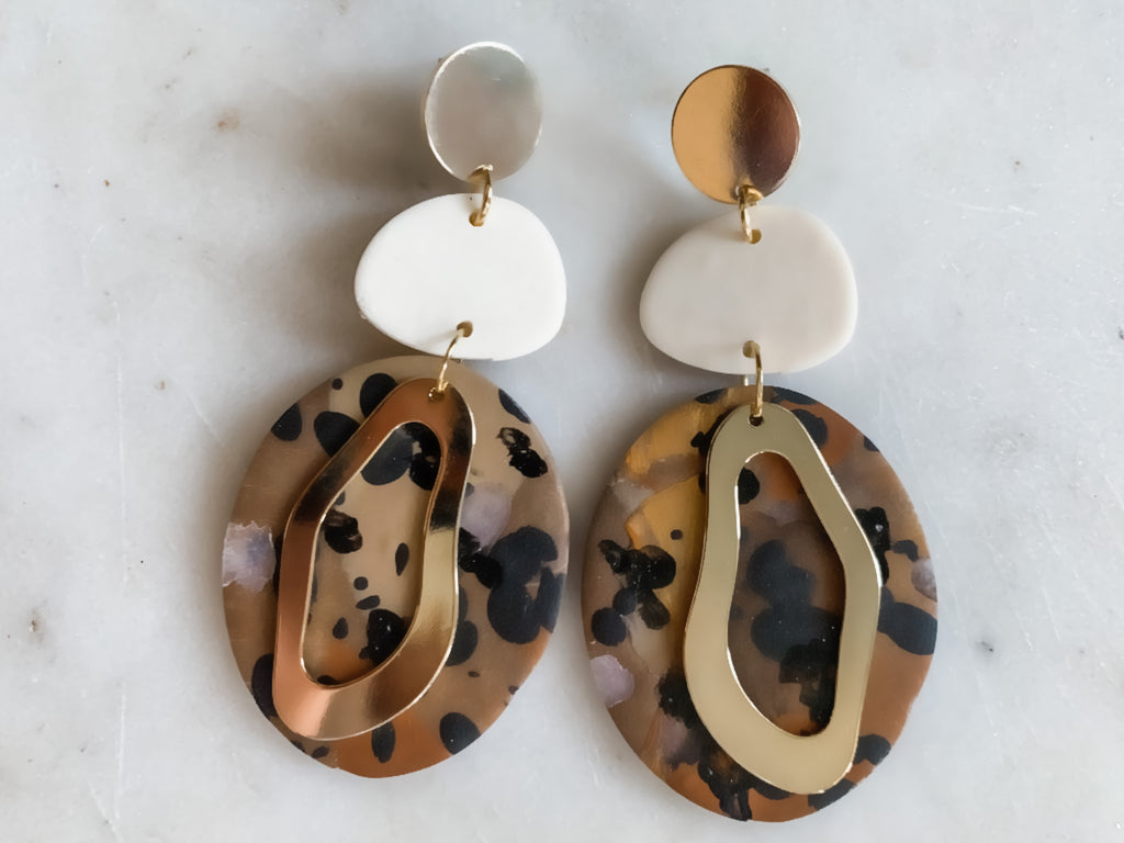 Large Tortoise Shell Dangles