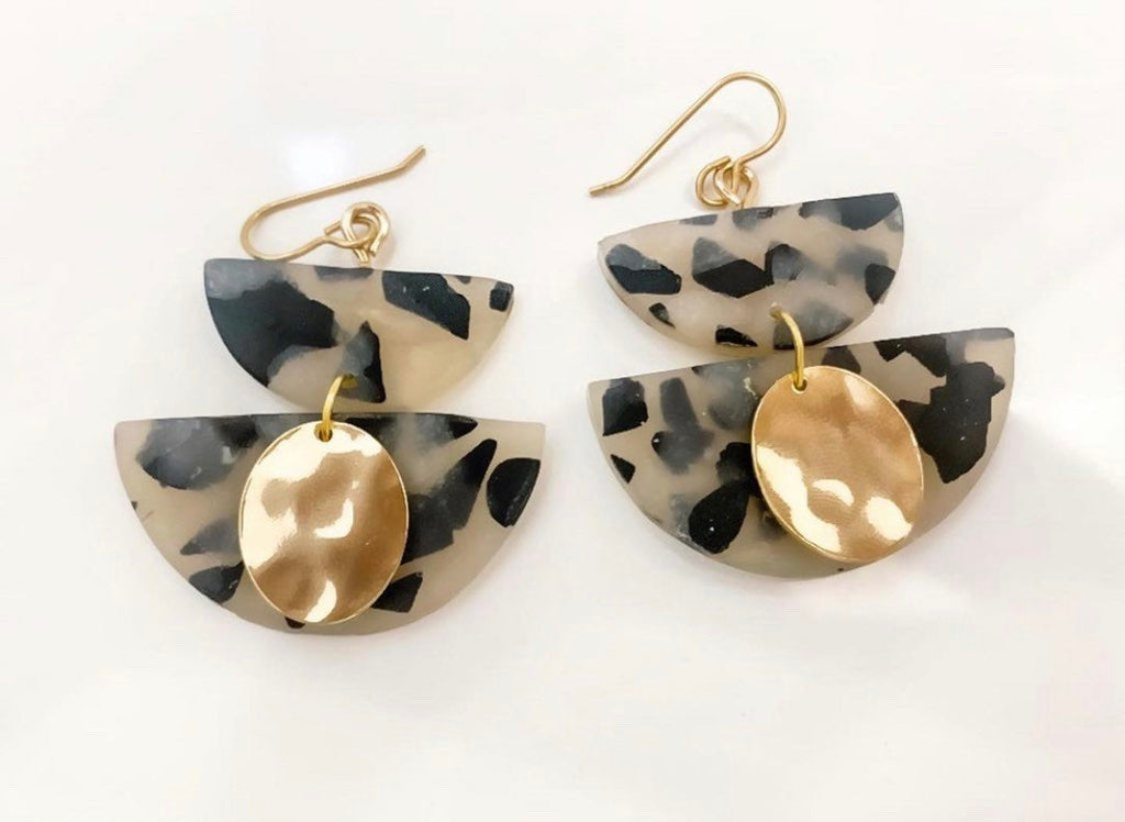 KARA - Blonde Tortoise Shell Dangles